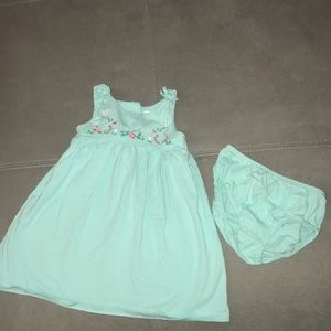 Dress with bloomer, Tiffany blue